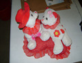 cheap and promotional white plush valentine teddy bear toys with red heart