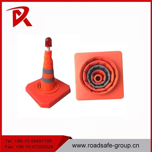China supplier road safety reflective oxford collapsible traffic cone
