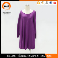 YEEL bulk wholesale clothing cheap price Breathable merino wool loose casual dress