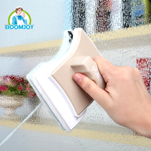 DOUBLE FACED MAGNETIC WINDOW WIZARD GLASS WIPER WIINDOW CLEANER WITH RUBBER SQUEEGEE