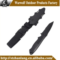 top popular best military combat army knife with plastic sheath