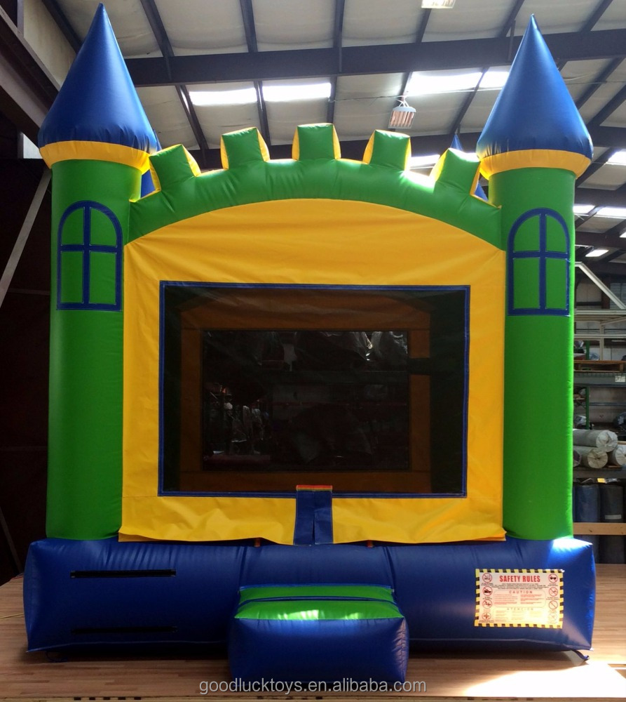 inflatable Blue, Yellow, Green INFLATABLE BOUNCE HOUSE