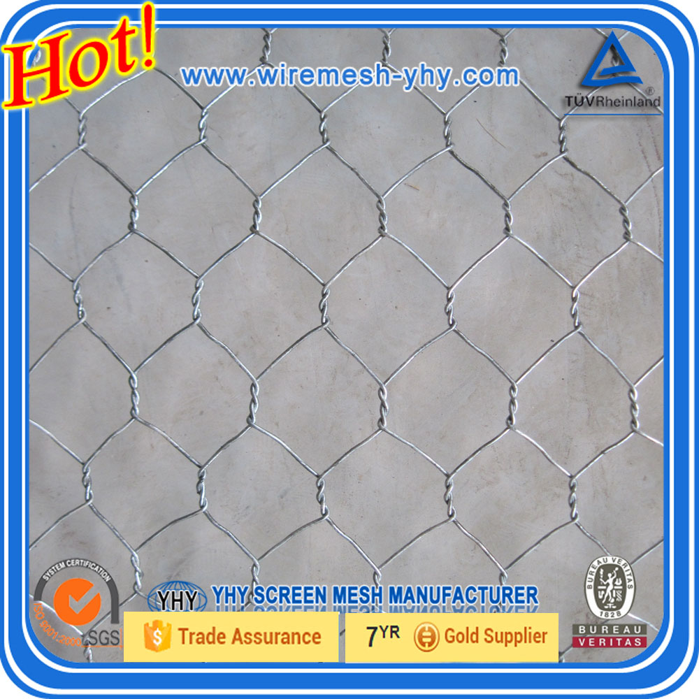 PVC Coated Hexagonal wire netting/ gabion mesh hexagonal retaining wall wire netting Hexagonal wire netting (real factory)