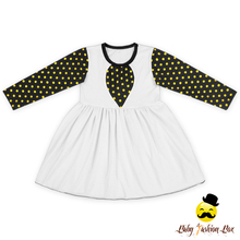 Fall Puffy Toddler Girls Long Sleeve Ruffle Stitching Baby Fashion Dress Kids Simple Cotton Frock Design