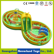 NEVERLAND TOYOS Large Outdoor Inflatable Playground Funning Curve Inflatable Obstacles Outdoor Inflatable Fun City for Sale