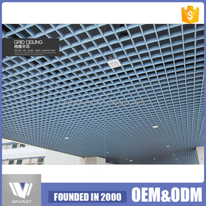 Lowest price metal aluminum ceiling tiles open cell aluminum ceiling for Station / Airport
