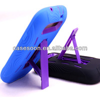 Guangzhou Manufacture wholesale Combo silicone Case With kickStand For Samsung Galaxy S3 i9300