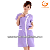 unique design short sleeve supermarket promotional uniforms