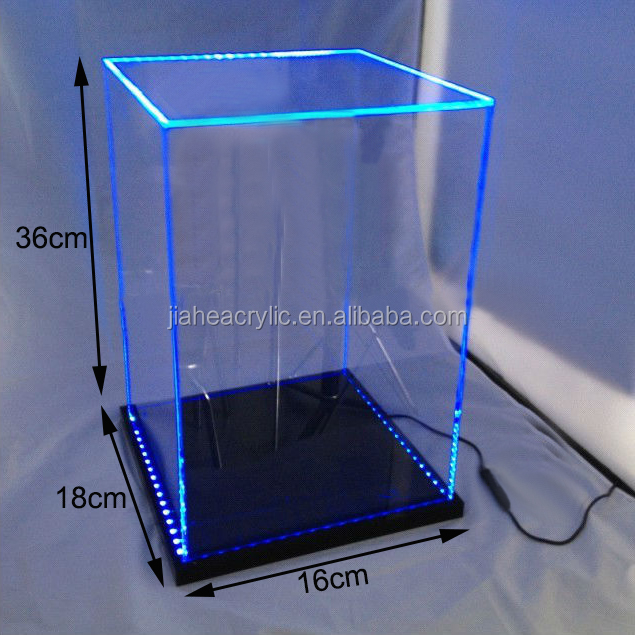 Plexiglass acrylic led light display box for 12 1 6 scale for Where to buy lucite