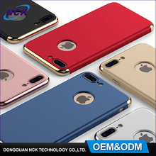 Free sample custom for galaxy s8 case, electroplating PC hard hybrid 3 in 1 360 degree case phone for iphone 6 7