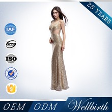Beaded With Sequine Mermaid Gold Evening Dress Malaysia Online Shopping