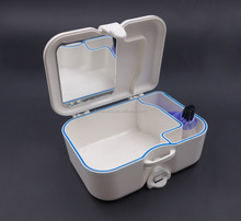Good quality Denture Storage Box with brush and mirror