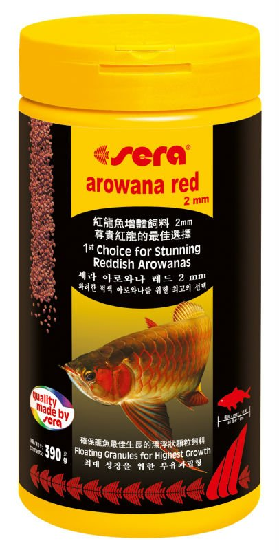 390g sera super red arowana fish food
