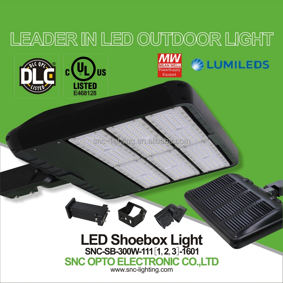 Pure White Color Temperature and Magnesium Alloy Housing best quality 300W Led shoebox light for parking lot lighting