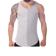Wholesale custom plain men tank top mens singlet stringer vest gym