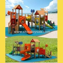 China Supplier Uniuqe Wooden Pirate Ship Playground
