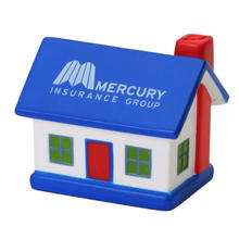 Logo printed pu foam house shape stress ball
