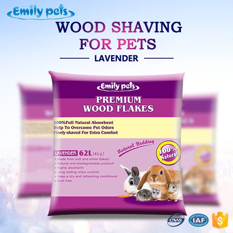 Emily pets fresh pet wood shavings