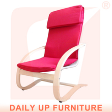 Hot Sale Living Room Furniture Best-Selling-Items Hotel Lounge Chair For Children Bent Wood Chair Lazy Chair With Footrest