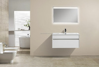 Hot Selling MDF Modern Bathroom Cabinet Vanity(Persuit-900)