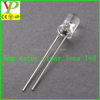 yellow/blue/green/red/white 5mm led clear lens led diode