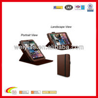 360 degree Rotary leather case for Google Nexus 7 Android Tablet brown color