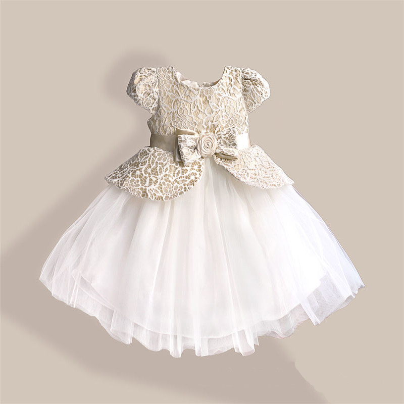 Children clothing best wholesale websites sleeveless simple designs bow apricot kids girl party wear dress zoe0032-1