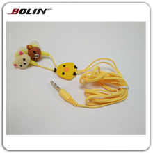 Lovely packaging gift communication gifts earphones, Cute animal cartoon ear buds, Wired cartoon earphone MP3/MP4/Player