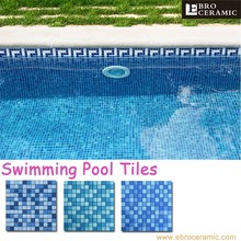 factory supply fantastic beautiful outdoor & indoor crystal glass mosaic swimming pool tiles for sale 23H30