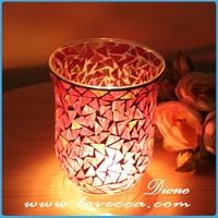 Mosaic glass candle holder,glass material candle holder,different types of candle holders wholesale