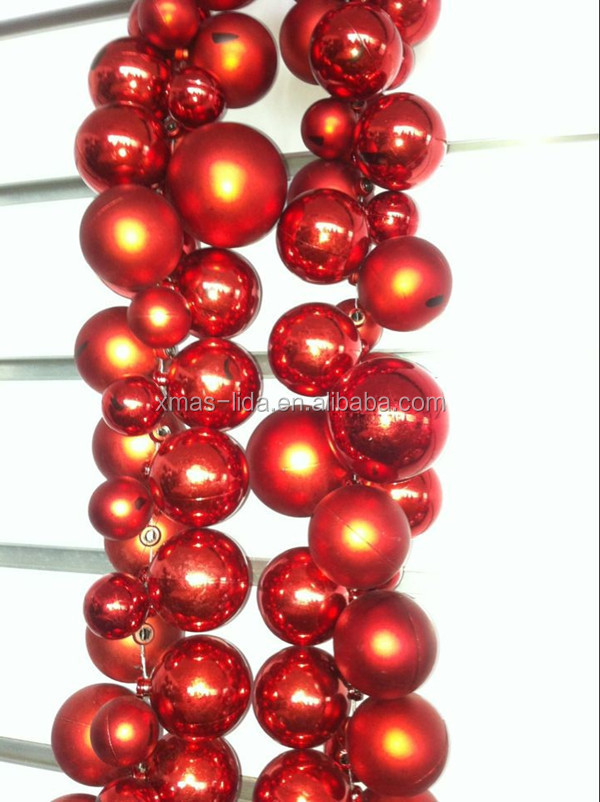 Plastic Ball Colorful hanging Christmas Garland Wreath for 2017