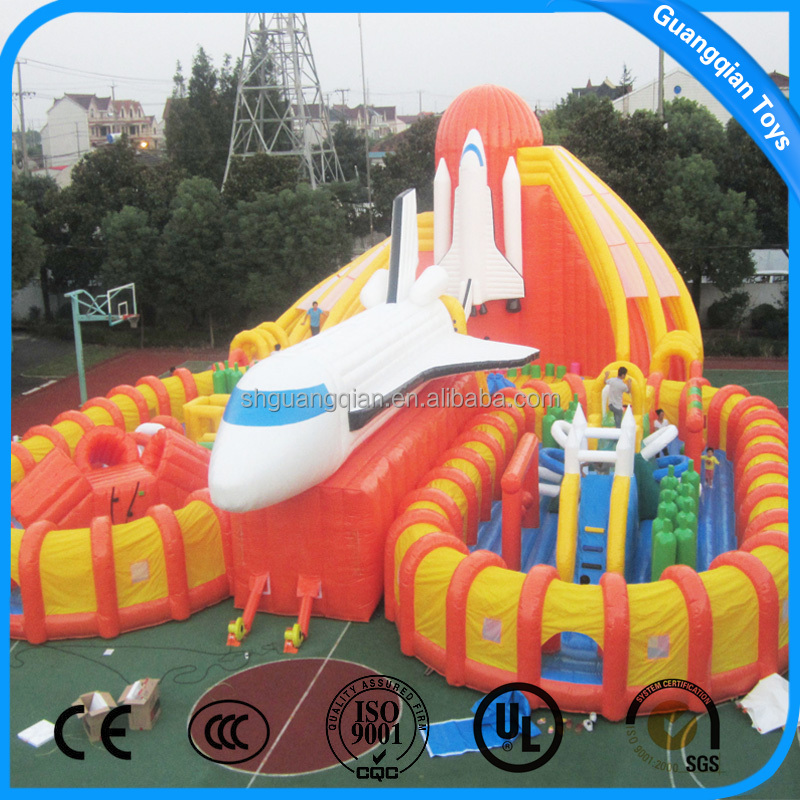 2017 New High Quality PVC Material Outdoor Games Inflatable Castle Slide