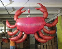 2015 new design Factory direct sale red inflatable crab for decoration