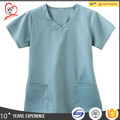 Hot sale Ceil Bule Hosework uniform medical staff uniform scrub top