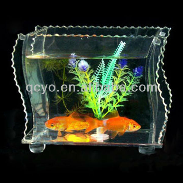 2013 QCY-Y-F019 elegant and high quality plastic fish tank