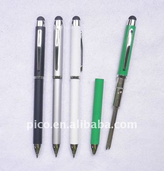 Popular Pen 3 In 1 Stylus Touch Screen Ball Pen With Two Color Refills Inside