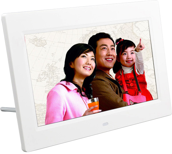 White and black optional digital photo frame 10 inch