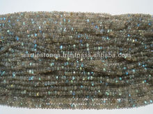 High Quality Labradorite Rondelle 4mm-5mm Gemstone beads