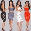 China Factory Wholesale Cheap Price Young Ladies Sexy Bodycon Dress 2 piece Bandage Dress
