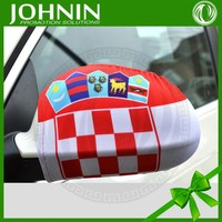 Croatia car mirror cover sock fabic car side cover flag for advertising