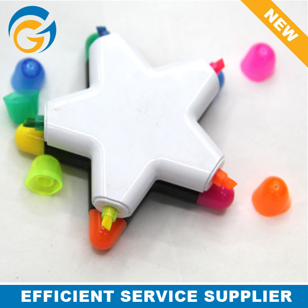 Flower & Star Shape Colored Highlighter Pen