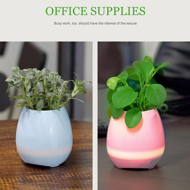 Wholesale Price Hot Sales Mini Magic Flower Pot Blue-tooth Wireless Speaker