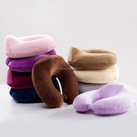 U Shape Pillow Cover, Memory Foam Car Auto Bus Train Airplane Soft Head Rest Neck Support U-Shaped Travel Pillow