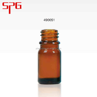 Hot china products wholesale 5ml e liquid amber glass bottle lotion cap