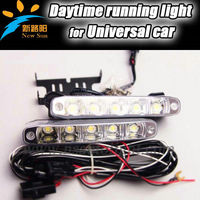 Easy installation led day time running light 9-16V DC drl car fog light with on/ off plug