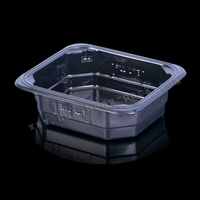 black plastic microwave food container, party tray food container disposable