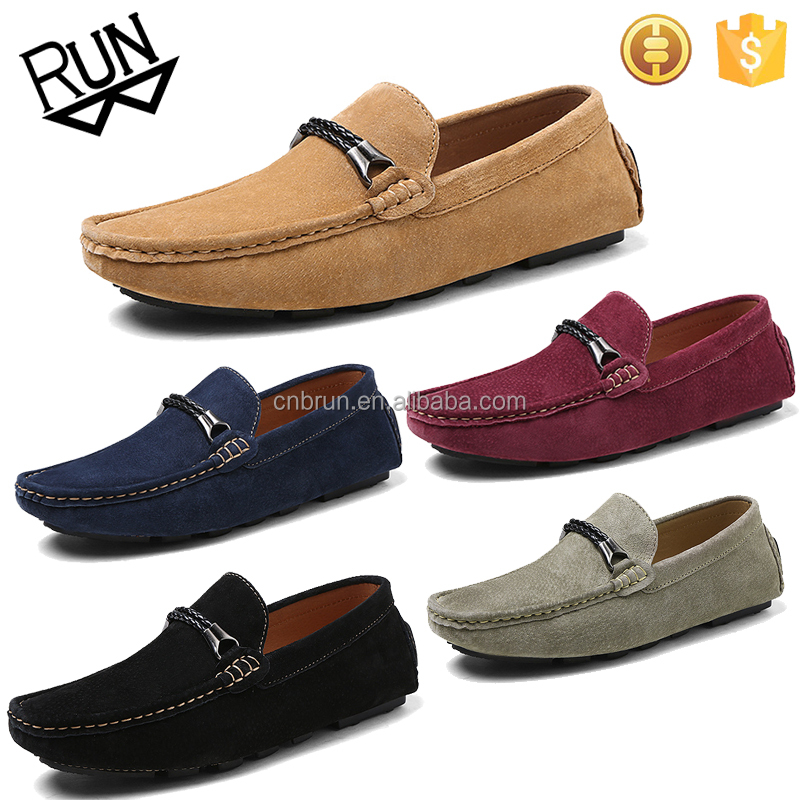 Wholesale simple design suede leather men casual <strong>shoes</strong> from manufacturer