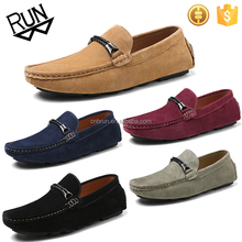Wholesale simple design suede leather men casual shoes from manufacturer