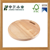 High quality Eco-Friendly Strong unique design round wood pizza bamboo cutting board with handle