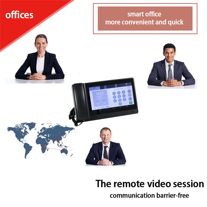 Smart VoIP phone based phone support video tablet telephone for business